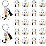 100 Pieces Acrylic Keychain Making Set, Includes 25 Pieces Pumpkin Shape Acrylic Keychain Blanks, 25 Pieces Split Keychain Rings, 50 Pieces Keychain Tassels Pendants for DIY Crafts Halloween