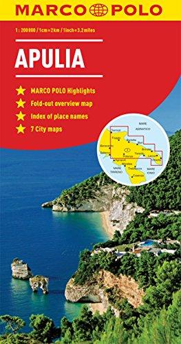 Apulia (Puglia) Italy Marco Polo Map
