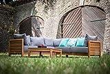 greemotion Lounge Set GOA-Loungemöbel aus Akazien Holz-Garnitur 3 teilig für Garten & Terrasse-Outdoor - 6