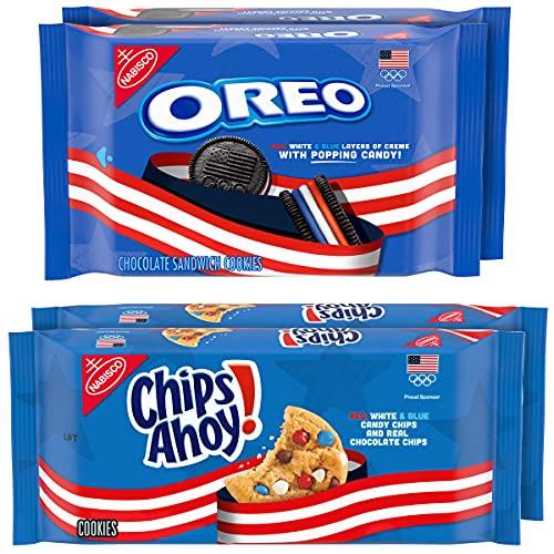 Nabisco Variety Pack Team USA OREO Chocolate Sandwich Cookies & Team USA CHIPS AHOY! Chocolate Chip Cookies Variety Pack, 4 Packs