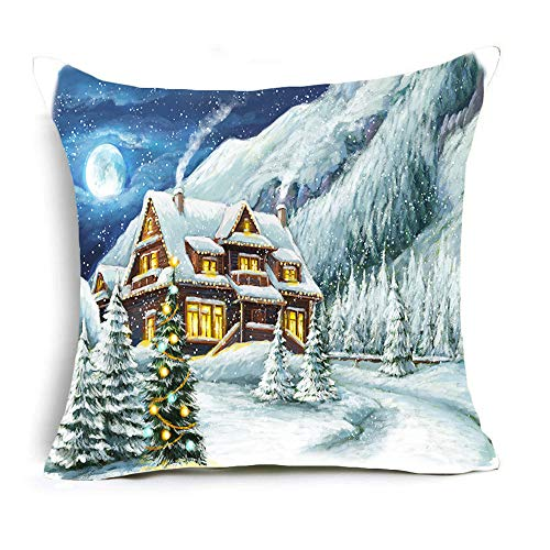 Gaojian Throw Cushion Pillow Covers Christmas Happy New Year Decorative for Sofas Beds Chairs Covers Square Pillowcase 4 -Piece Set, 18 X 18 Inch,R