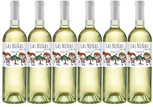 LAS NIÑAS Ecológico - Vino Blanco Orgánico Verdejo - Vino de la Tierra de Castilla- 6 botellas x 750 ml