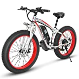KUDOUT Vélo Electrique 26' E-Bike, 800W 48V Batterie au Lithium de Grande Capacité et Le Chargeur Premium Suspendu et Shimano 21 Engrenage