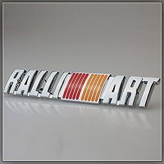Automaze Ralliart Silver 3D Universal Decal Emblem Logo Sticker Chrome Badge Mistubishi