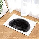 ajhgfjgdhkmdg Mascota Perro Decorativo Cachorro Gordo Negro Alfombras de baño Antideslizantes y Resistentes al Desgaste.