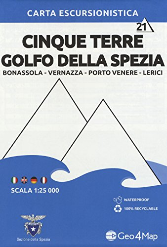 Cinque Terre / Golfo Della Spezia 1 : 25.000: Bonassola - Vernazza - Porto Venere - Lerici