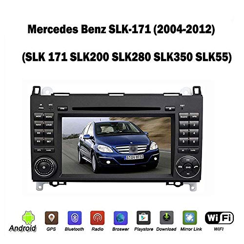 Autoradio 2 DIN Head Unit Sat NAV für Mercedes-Benz SLK171 / 200/280/350/55 SKL280 GPS Navigation Multimedia Player Auto Radio Receiver Carplay DSP RDS