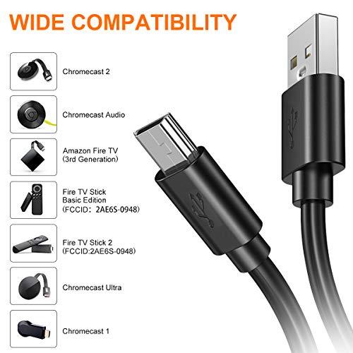 BEVA Chromecast und TV Stick Ethernet Adapter Micro USB zu RJ45 LAN Netzwerk Adapter mit USB 2.0 Netzkabel für Stromversorgung