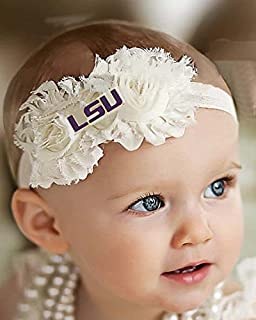 Future Tailgater LSU Tigers Baby/Toddler Shabby Flower Hair Bow Headband