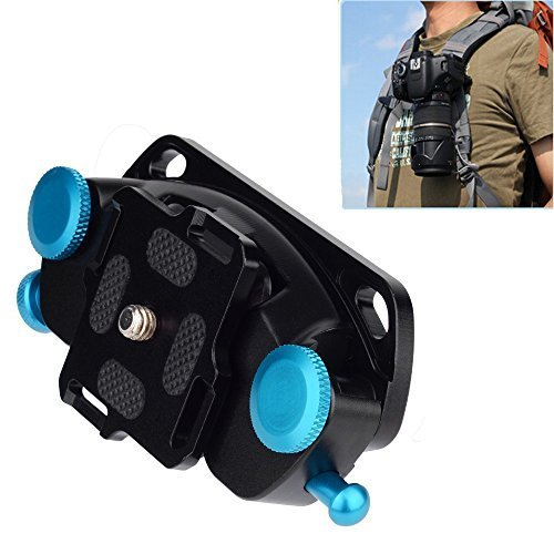 "Fomito Camera Waist Spider Belt Holster 1/4 ""Screw Quick Strap Buckle Dull Superficie pulida para DSLR Cámara Digital SLR GoPro"