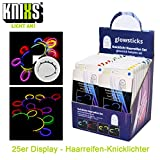 KNIXS pd11493 20 capelli pneumatici Display, intensa Leuchtende pneumatici, luminosi Party divertimento garantito, marca qualità, 4 assortiti