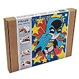 Arenart | Lámina Héroes BatM 30x40cm | para Pintar con Arenas de Colores | Manualidades para Niños | Dibujo Infantil | Pintar por números | +6 años