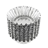 Bezall 20pcs Egg Tart Aluminum Cupcake Cake Cookie Mold Lined Mould Tin Baking Cups...