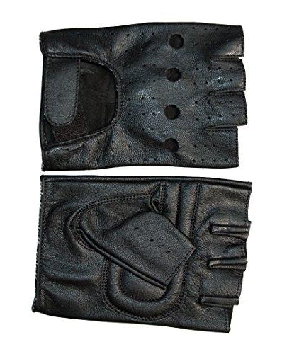 Roleff Racewear sans doigts Gants d'été en cuir Ro 30, noir, Taille XL