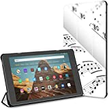 Estuche para Tableta Abstract Piano Music Note Black Fire HD 10(9.a/7.a generación,versión 2019/2017...