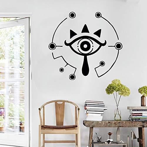 57x62cm, Kinderaufkleber, Wild Sheka Symbol Sheka Eye Kinderspielbett Wohnzimmeraufkleber Dekoratives Wandbild Raummalerei Slangaufkleber Applique Dekorativ