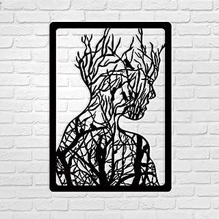 WALLCENTRE ART BEYOND IMAGINATION Mild Steel Women Shape Tree Metal Wall Hanging Art Home Decor for Living Room, Bedroom, ...