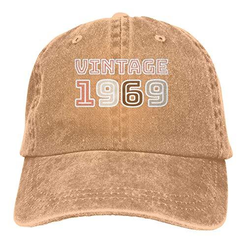 Yuanmeiju Gorra de Mezclilla Vintage 1969 50th Birthday Unisex Vintage Washed Distressed Baseball Cap Twill Adjustable Dad Hat