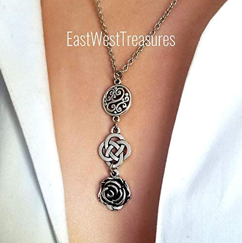 Irish Celtic Love Knot Cross Necklace and Earrings set for for women, Irish Scottis Celtic Friendship knot Jewelry gifts