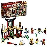 LEGO NINJAGO Il Torneo degli Elementi, Playset Tempio con Piattaforma da Battaglia e Minifigure d'Oro di Lloyd, 71735