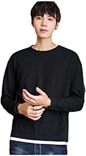 Mogogo Men's Skinny Blouse Tops Solid Color Long Sleeve Pullover Sweatshirt