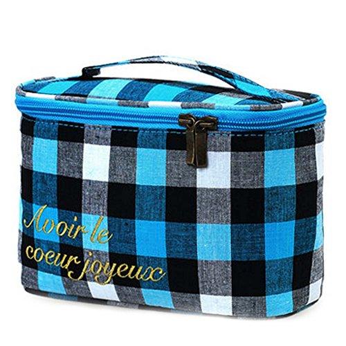 Haute Joaillerie Pouch Qualité Quadrillage sac de rangement cosmétique