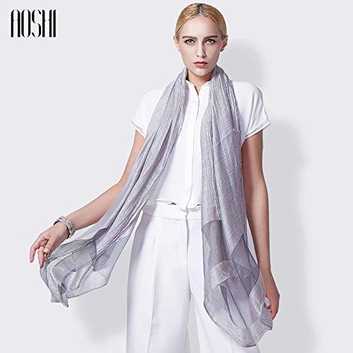 YRXDD La Couture Coton Soie Foulard Fantaisie Chaude à Double Usage Grand Foulard Soie Le Printemps et l'automne Femme