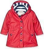 Hatley Splash Jacket-Red (Girls) Chaqueta para lluvia, Rojo y azul marino, 6 años para Niñas