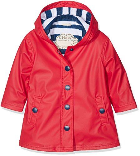 Hatley Mädchen Splash Jacket-Red (Girls) Regenmantel, Rot und Marineblau, 5 Jahre
