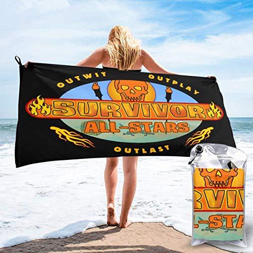 Yuanmeiju Toalla de baño de secado rápido, toalla Survivor CBS Tv Television Show Quick Dry Towel Set perfecto para camping, playa, baño, yoga, mochilero, fitness, bolsa de regalo y Carabiner