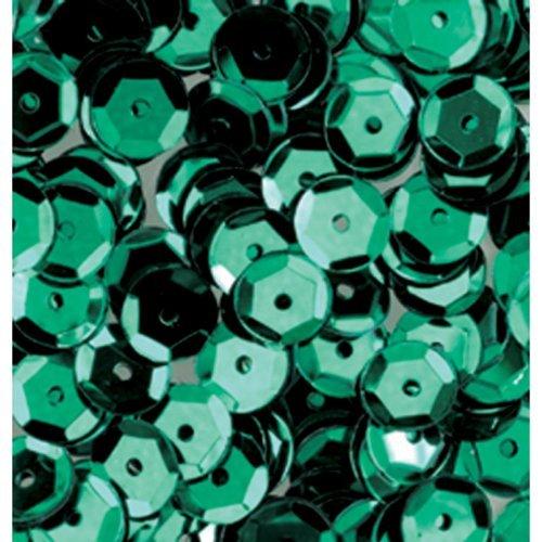 efco Runde, vertiefte Pailletten, grün, 6mm, 40g, 4.000 Stück