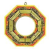 Espejo Bagua Convexo de abolladura Feng Shui, Adorno de Madera de 1 Pieza, talismán taoísta de bendición de la Suerte para decoración del hogar, Adorno de Negocios(4 Inches-Espejo cóncavo)