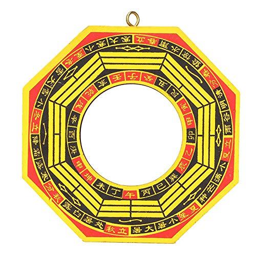 Biitfuu Espejo Feng Shui, Tradicional Lucky Feng Shui Convexo de Madera China Bagua Espejo cóncavo Bagua Espejo para Negocios en casa Good Luck (4 Pulgadas-cóncavo)