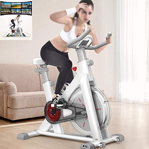 Bicicletas de ejercicio inteligentes, Bicicleta de spinning para interior de gimnasio en casa, Equipo de deportes de interior, Bicicleta de pedal de ejercicio ultra silenciosa transparente con todo in