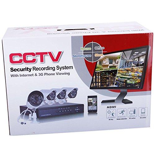 CCTV Security Recording System Kit videovigilancia 4CH Internet & 3G Phone Viewing