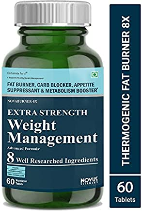 Carbamide Forte Fat Burner & Weight Loss Supplement with Garcinia Cambogia and 7 Other Ingredients- 60 Veg Tablets