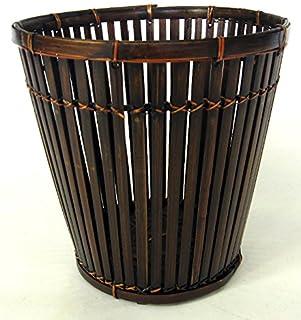 くずいれ 立差し丸くず篭 《45-526 竹製 屑入れ クズイレ ごみ箱 ゴミ箱 ごみばこ》