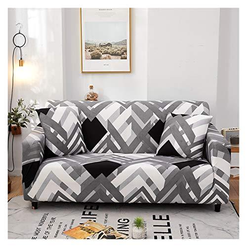 NEWRX Conjunto de Tapa de sofá geométrico Conjunto de algodón Elástico Sofá Sofá Cubiertas para Sala de Estar Sofá Sofá Cubierta Esquina Sofá seccional Cubierta