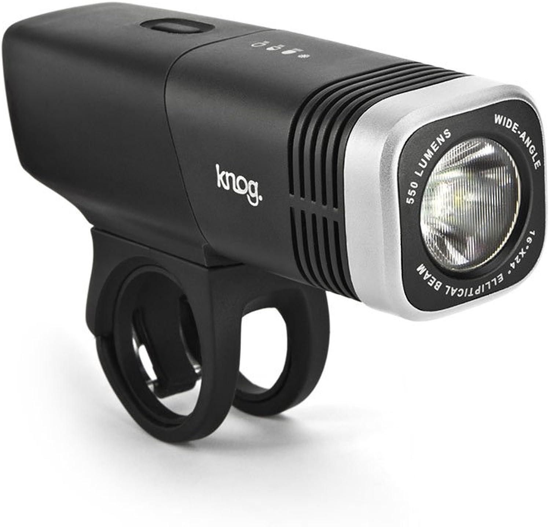 Knog Blinder Arc 5.5 USB Rechargeable Front Bike Light Silver