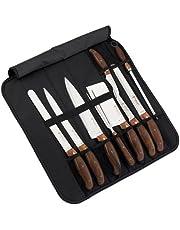 Royalty Line RL-K9C Juego de cuchillos, 9 piezas, con funda, cerrable