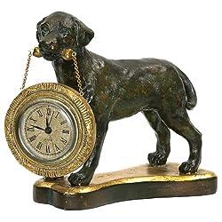 Sterling Labrador Retriever Desk Clock