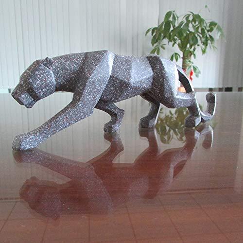 WANGXINQUAN Decoración de resina para el hogar, oficina, estudio, simulación, decoración de animales (color: plata).