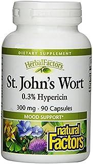 Natural Factors - HerbalFactors St. John's Wort Extract 300mg, Mood Support, 90 Capsules