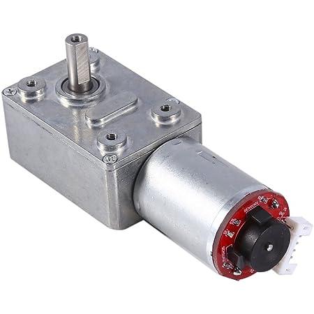 Dc 12v Hochdrehmoment Turbine Schnecke Turbo Wurm Getriebemotor Geschwindigkeitsreduzierung Motor Mit Encoder Stark Selbstverriegelung 10 20 30 40 100rpm 100rpm Baumarkt