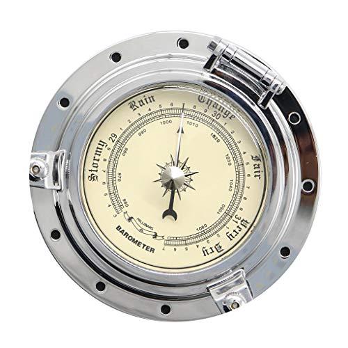 #N/a Barómetro + Tornillos Instrumento de Navegación Metálico para Coche Barco RV