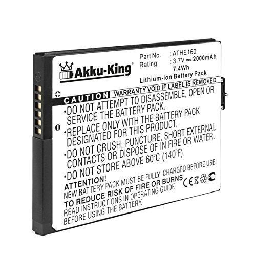 Akku-King Akku kompatibel mit HTC BA S170 ATHE160, 35H00081-00M - Li-Ion 2000mAh - für Advantage, X7500, T-Mobile Ameo, O2 XDA Flint Dopod U1000