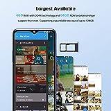 Blackview A80s Mobile Phones SIM Free Unlocked, 4GB RAM 64GB ROM (128GB Extened) Android 10 Smartphone, 6.21 inches Display, 13MP Quad Camera, 4G Dual SIM, 4200mAh, Face/Fingerprint Unlock - Blue