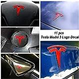 Tesla Model 3 Logo Wrap – 11 pezzi per set (rosso lucido)