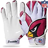 Franklin Sports Arizona Cardinals Youth NFL Football Receiver Gloves - Receiver Gloves For Kids - NFL Team Logos and Silicone Palm - Youth S/XS Pair