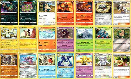 Pokemon Karten 20 Verschiedene Seltene Karten + 1 Seltene Reverse Holo Deutsch - Zufällige Auswahl